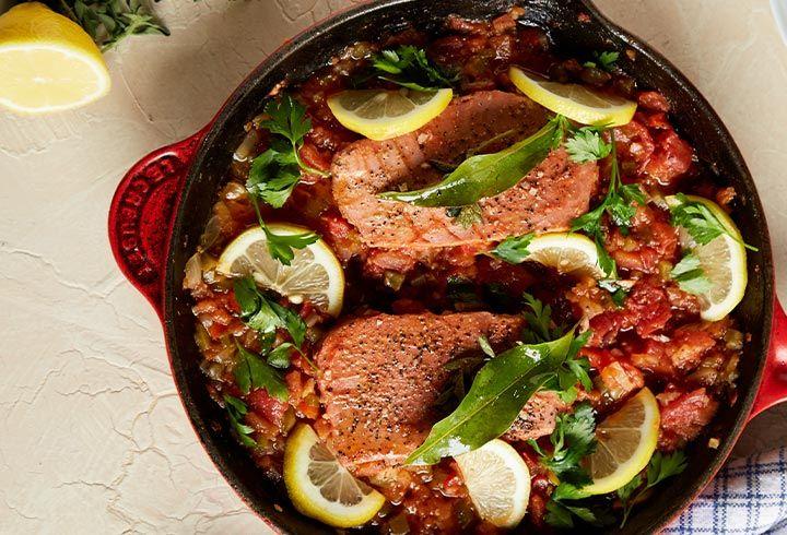 Disfruta esta deliciosa receta de  medallones de atún Tuny al horno.