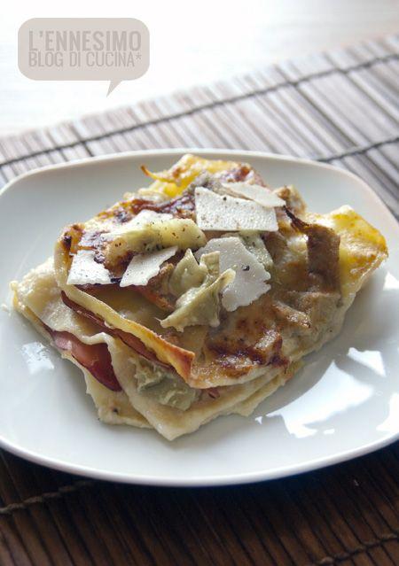 LASAGNE SPECK E CARCIOFI | Pasta autunno/inverno | Pinterest | Lasagne