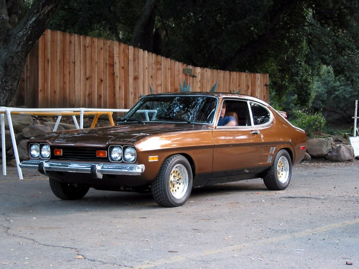 1973 Mercury Capri Sport Coupe.  Here's my Brownie!  But mine was a 72.