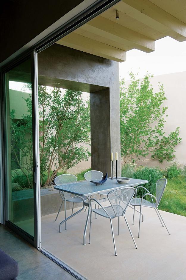 New Mexico garden and patio.