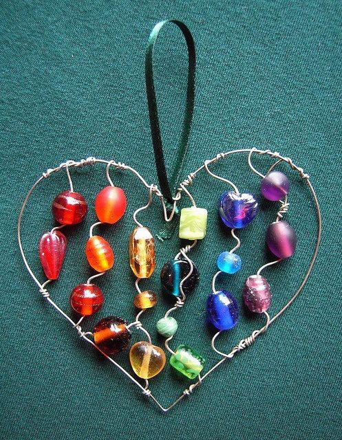 wire heart ornaments
