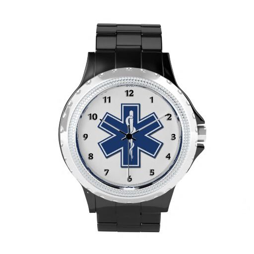 EMS Star of Life Wrist Watches.. #EMT #watches #star #life #men #women #people #worldwide #gifts #time #medical #health #ceramic #EMS #ambulance #paramedics