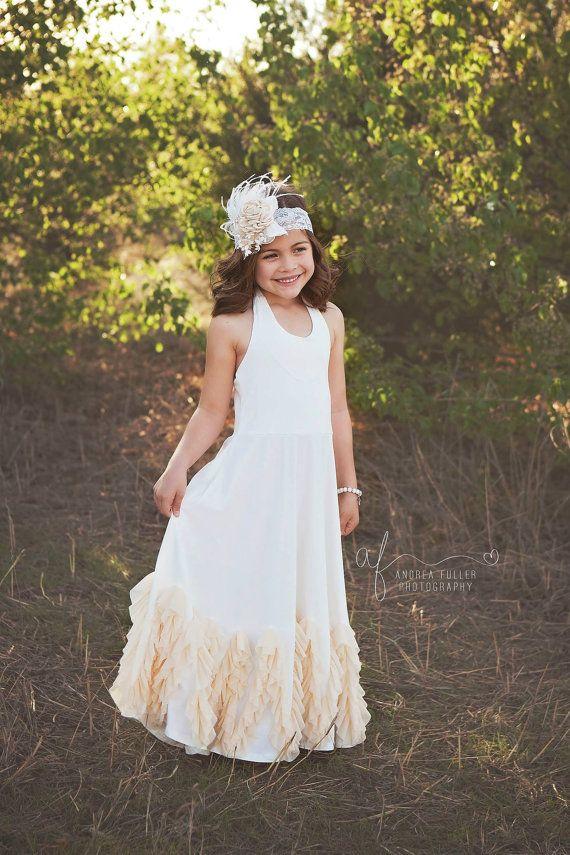boho flower girl dress flower girl dresses by PoshPeanutKids