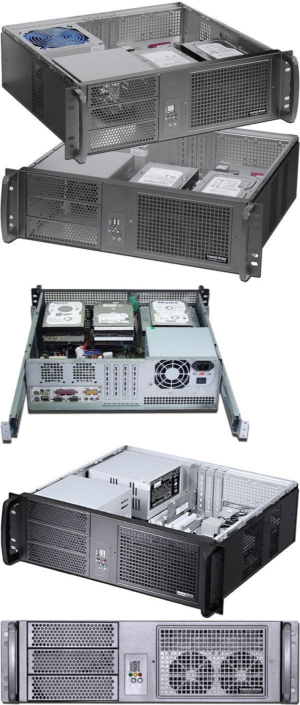 Rackmount Cases And Chassis 64061 3u D 14 96 24 Rail Set Rackmount Chassis Atx Itx 3x5 25 5xbay Case New Buy It Now Only Atx Open Frame Mini Itx
