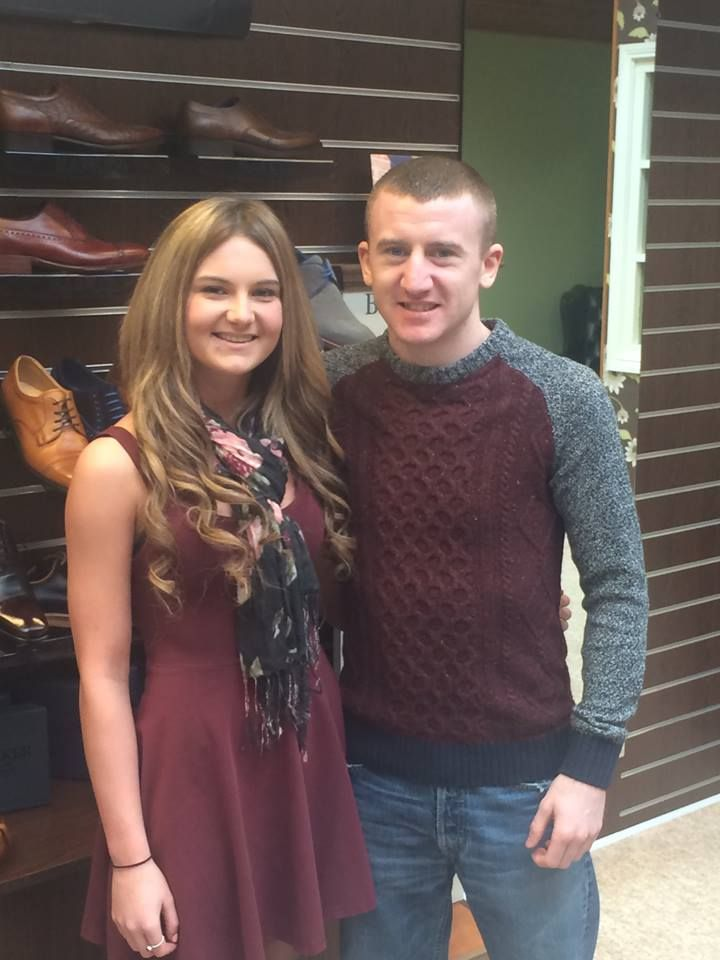 Local Belfast Boxer, Commonwealth Gold medalist and Olympic Bronze medalist, Paddy Barnes dropped in for a pair of shoes, pictured here with sales assistant, Gemma.
