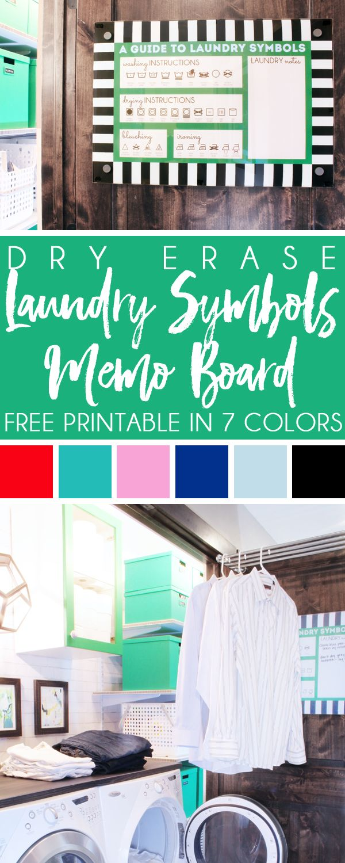 Organizing With Style Dry Erase Memo Board Free Laundry Symbols