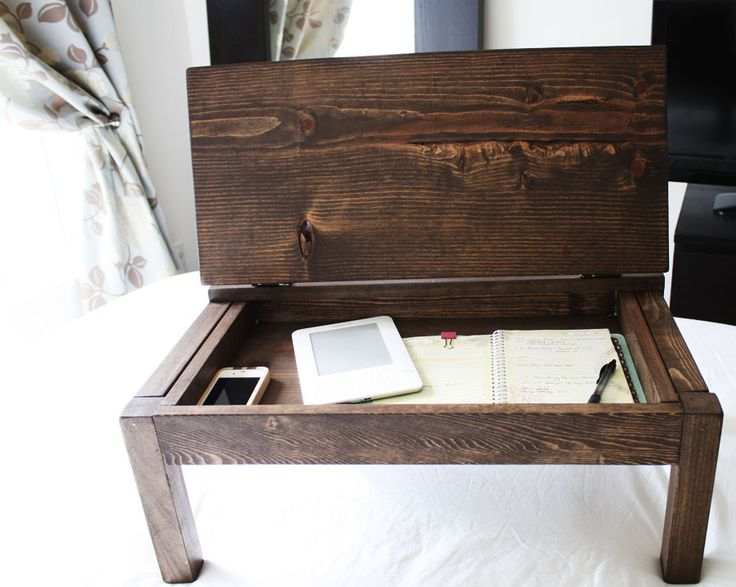 i literally sighed when i saw this lap desk, it's that easy to make - it's a modified version of an Anna White plan....