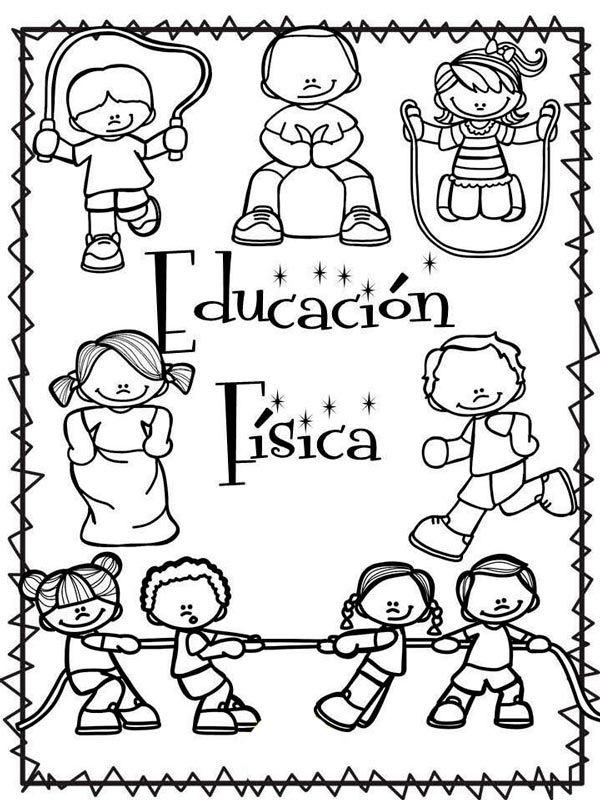 Caratulas De Educacion Fisica Para Cuadernos De Primaria Y Secundaria 37 Imagenes Foros Ecuador 2018 Letters For Kids Christian Students School Fun