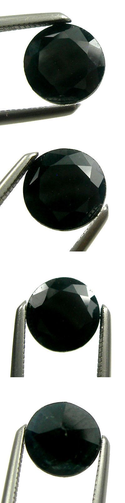 Other Sapphires 164408: 1.22 Carat 6.30Mm Round Black Color Natural Australian Sapphire Loose Gemstone -> BUY IT NOW ONLY: $79.3 on eBay!