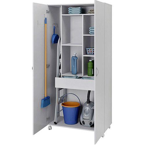 Mantén el orden de los productos de limpieza en un armario multiuso. Contacto l https://nestorcarrarasrl.wordpress.com/e-commerce/ Néstor P. Carrara S.R.L l ¡En su 35° aniversario!