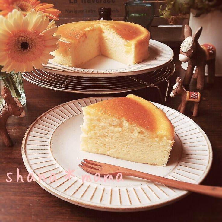しゅわしゅわ~♪スライスチーズでスフレチーズケーキ♪ | しゃなママオフィシャルブログ「しゃなママとだんご3兄弟の甘いもの日記」Powered by Ameba