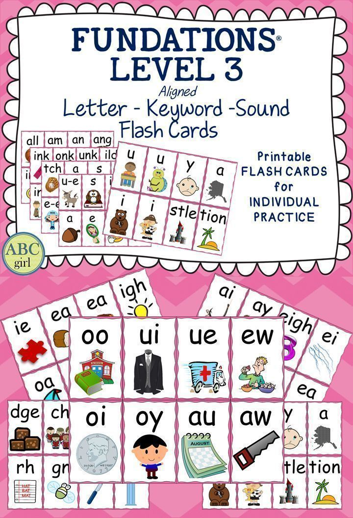 Fundations Level 3 Letter Keyword Sound FlashcardsThese Flashcards Are A Perfect Tool For Parents