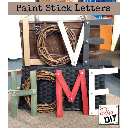 Picture Perfect Paint Stick DIY Projects - The Cottage Market