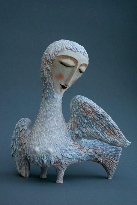 ☥ Figurative Ceramic Sculpture ☥   Elya Yalonetskaya | Ptica