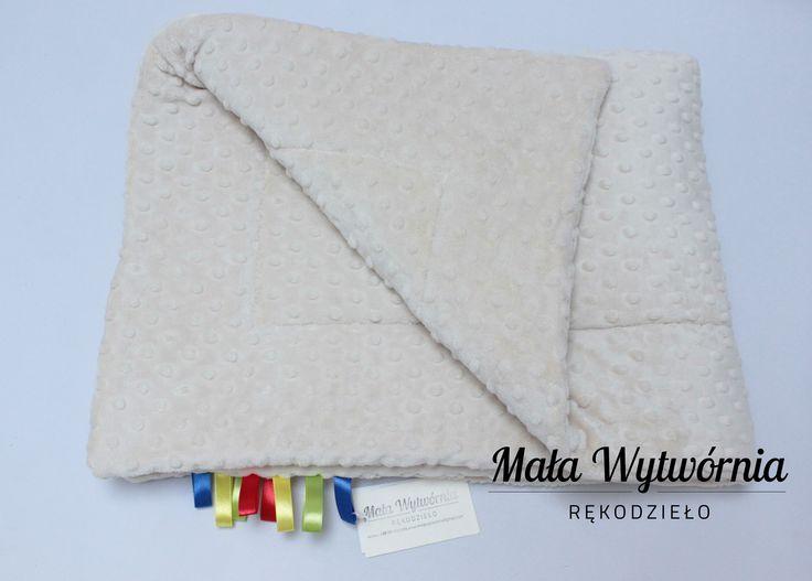 Miękki kocyk z pluszu minky (obie strony). Ręcznie wykonane w Polsce najwyższej jakości. www.facebook.com/malawytwornia