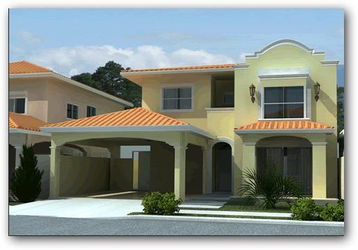 Casas con color teja buscar con google ideas para el for Fachada de casas modernas con tejas
