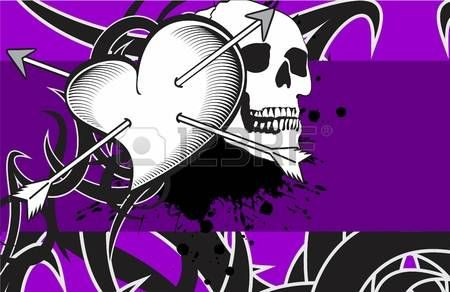 tattoo+hart%3A+schedel+achtergrond+hart+tattoo