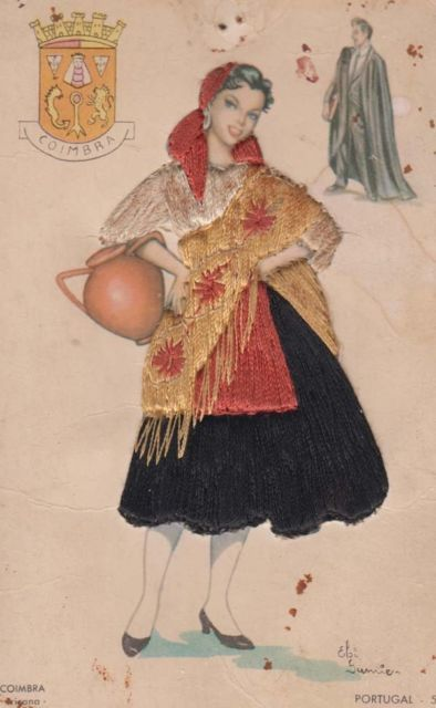 Coimbra vintage postcard