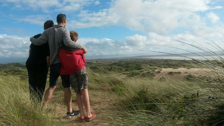 Enjoying the view Saunton Sands in August from Braunton Burrows.