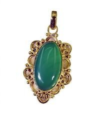Green onyx Copper mesmeric wholesales Pendant Green L-1.2in UK gift