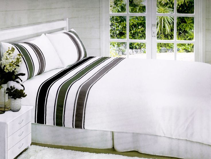 Montreal Black Band Luxury Living Bedding Set Double Bed & King Size Available in Home, Furniture & DIY, Bedding, Bed Linens & Sets | eBay #bed #bedding #duvet #black #white #elegant #stylish #chic #stripes #stylish #thatsdarling #bedroom #style #decor #modern #cosy #relax #relaxing #doubleduvet #home #linen #homedecor #homestyle #interior #design #HarvardMills #LordOfTheLinens