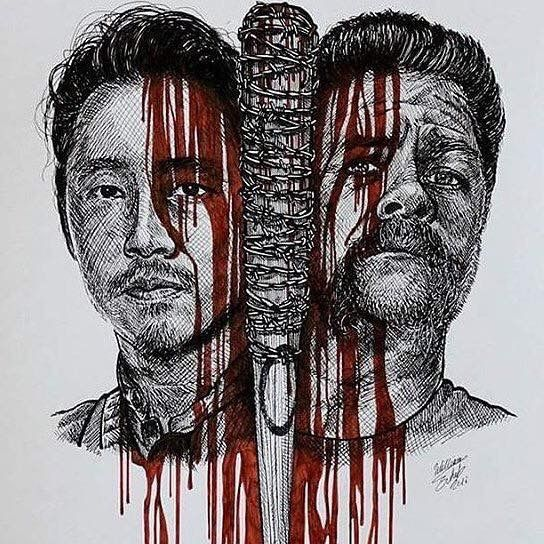 Glenn and Abraham sad :(