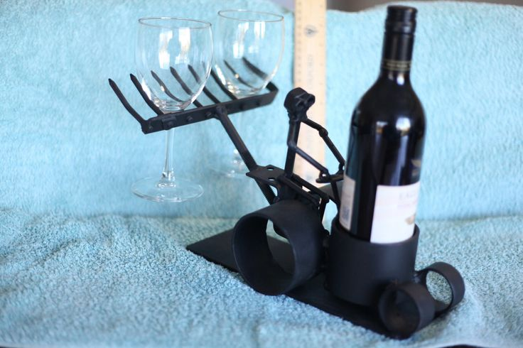 Wine Tractor. Nuts and Bolts Metal Artwork. Farmer Tractor Wine Bottle and Glass Holder. Centrepiece. Garden table decoration. by ShedShenanigans on Etsy https://www.etsy.com/au/listing/452301554/wine-tractor-nuts-and-bolts-metal