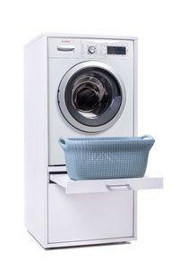 WASCHTURM basis Schrank mit Ausziehbrett WSCS 1462 (Ohne Waschmaschine)