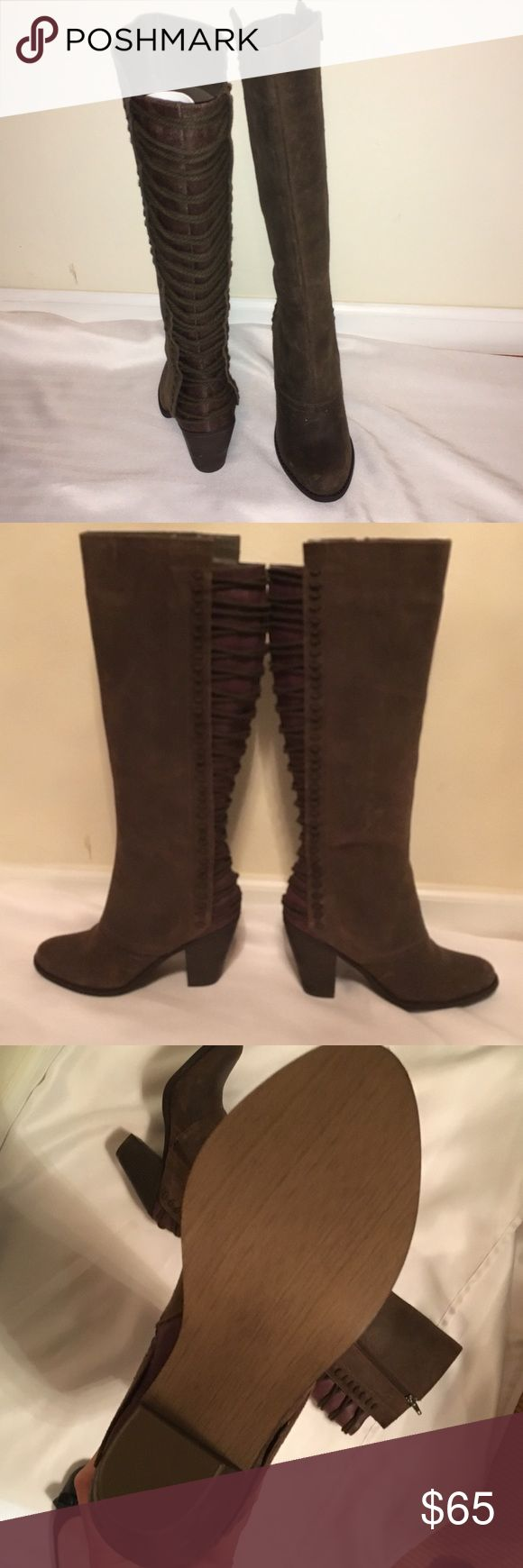"NEW Carlos Santana boots Distressed brown leather Carlos Santana boots.  New never worn.  Smoke free, pet free home.  Heel approx 3 1/2"" Carlos Santana Shoes Heeled Boots"