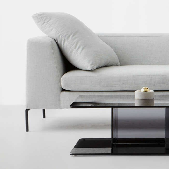 With its refined leg detail The Knack has a lightweight appearance, designed for the home with a feather/foam cushion mix this comfortable sofa comes in a number of seating options including 2, 2.5, 3 seater, chaise and ottoman as well as with or without arms to give you a multitude of configuration options. The nature of The Knacks form lends itself to a many of fabric possibilities.