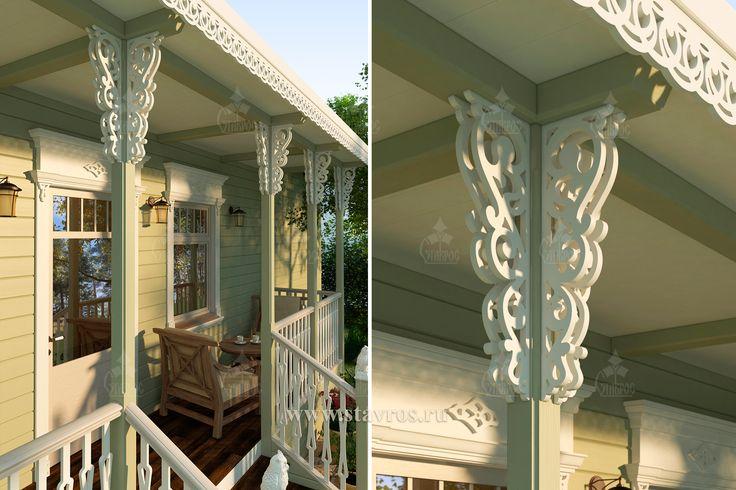 Резное крыльцо. #дом #наличник #строительство #загородный #веранда #терраса #деревянный #резьба #резное #дерево #дизайн #house #design #wood