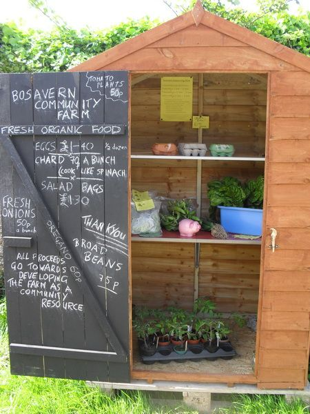 A way to sell our duck eggs at the farm gate. Like the idea of painting inside of door with blackboard paint.