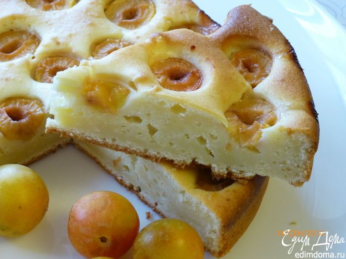 Сливовый пирог с маскарпоне | Кулинарные рецепты от «Едим дома!»