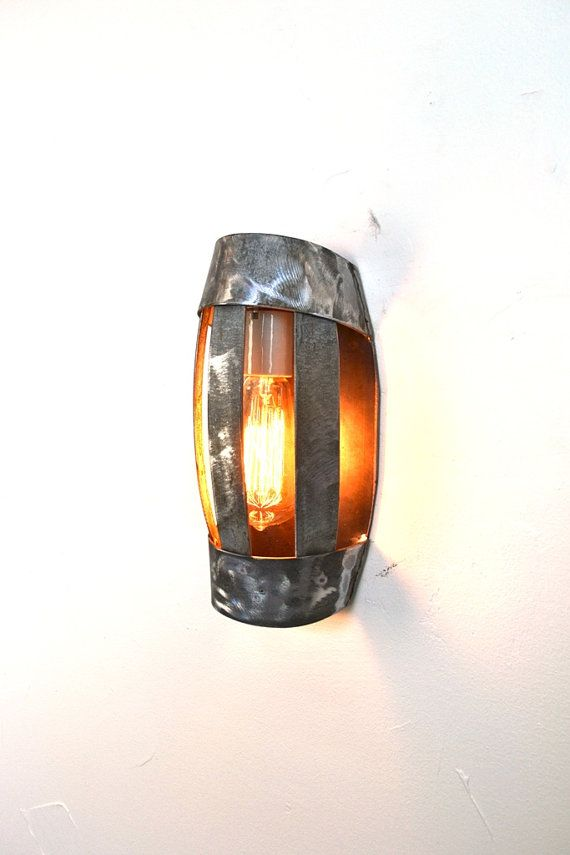 LOFT Lighting - V15 Wine Barrel Ring Wall Sconce - 100% Recycled on Etsy, $100.00
