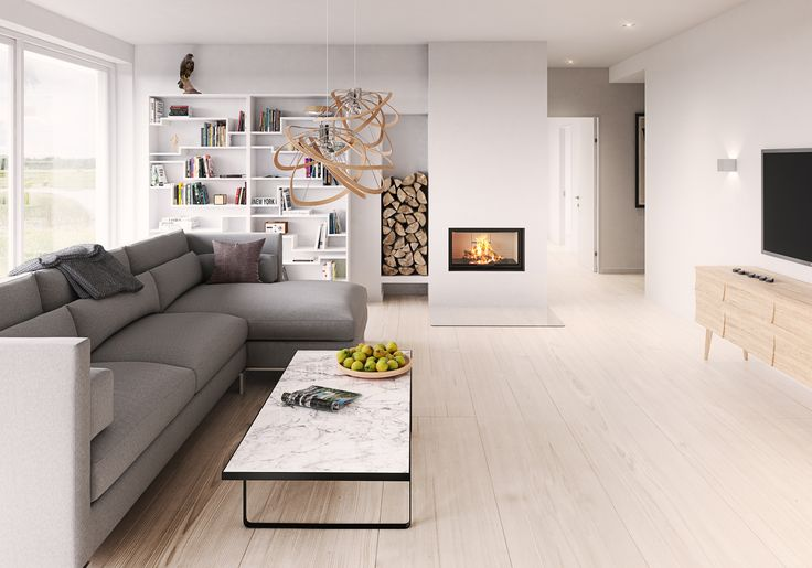 Check out the #minimalistic #design. This #Visio #fireplace from #RAIS is #beautiful and completes any #home. #Decoration #Architecture
