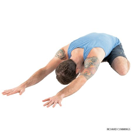 Take a break. Balasana is a restful pose that can be sequenced between more challenging asanas.