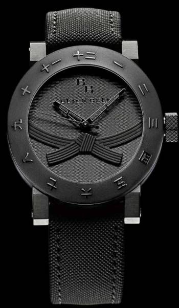 A cool watch, the Black Belt Watch, certified black belt proof required.