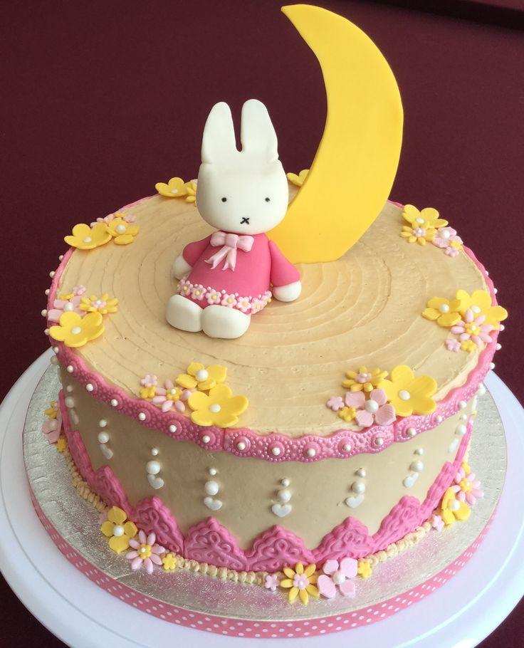 Miffy theme birthday cake