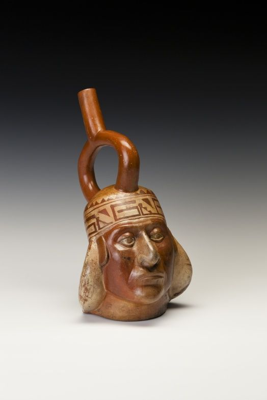 Nobleman Portrait Bottle | Moche (North Coast, Peru) Created: Early Intermediate Period, Phase IV, 450-600 CE..