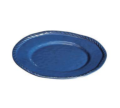 Rope Melamine Salad Plate, Indigo, Set of 4