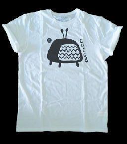 Camiseta televisión rota, nieve, objetos antiguos diseño dibujo ilustración draw