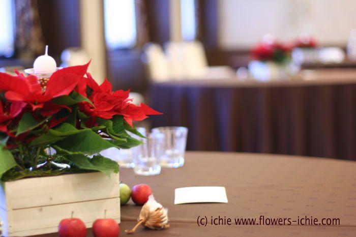 去年12月クリスマス直前のお式の写真です。会場は法曹会館様、クリスマスにちなんで会場装花はポインセチアの鉢でやりたいということ、それが最初のご希望でした。...
