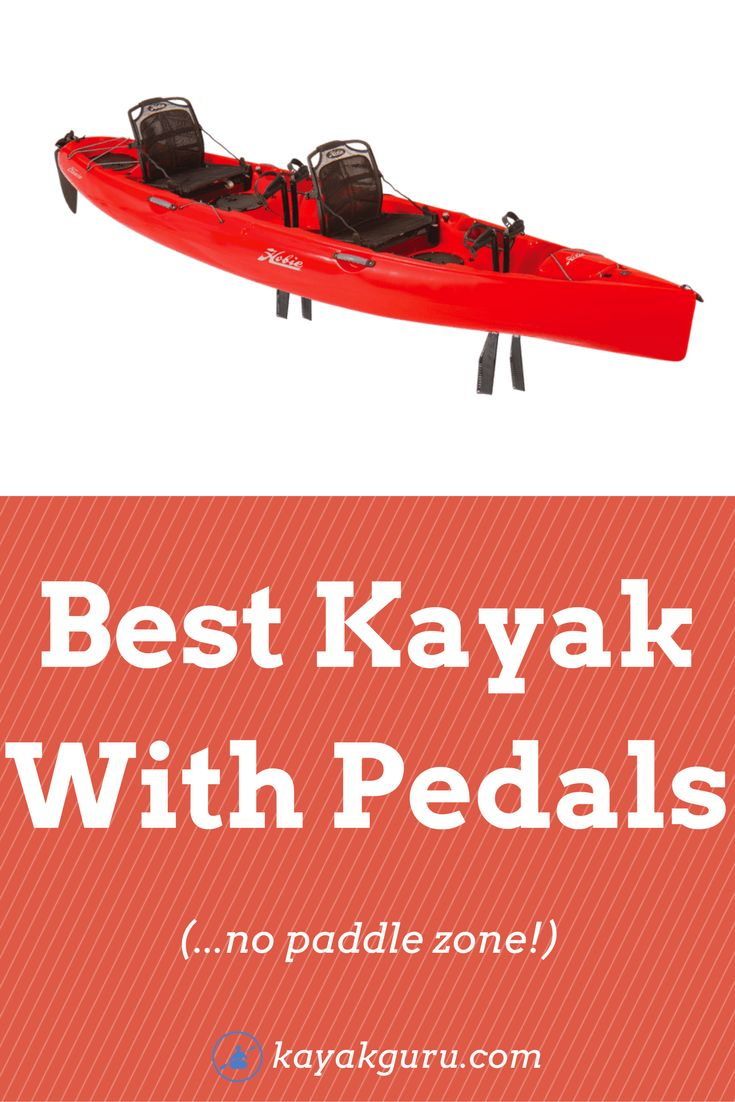 Best Kayak With Pedals - for fishing...paddle-free. All the pros and cons of fishing in a kayak with pedals vs paddles. Rotational and Push explained
