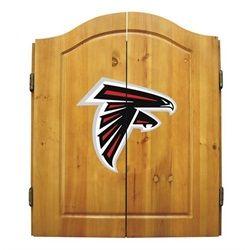 Atlanta Falcons Dart Board Cabinet & Bristle Dartboard Set