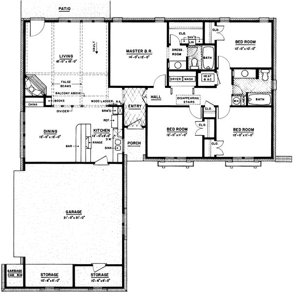 Ranch Style House Plans 2086 Square Foot Home 1 Story 4