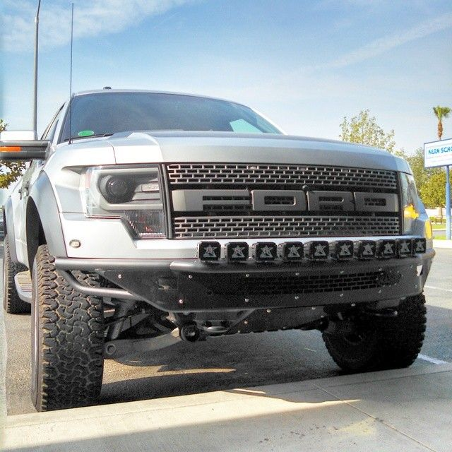 Dually Front Bumpers : Ford raptor race series r front bumper installed with