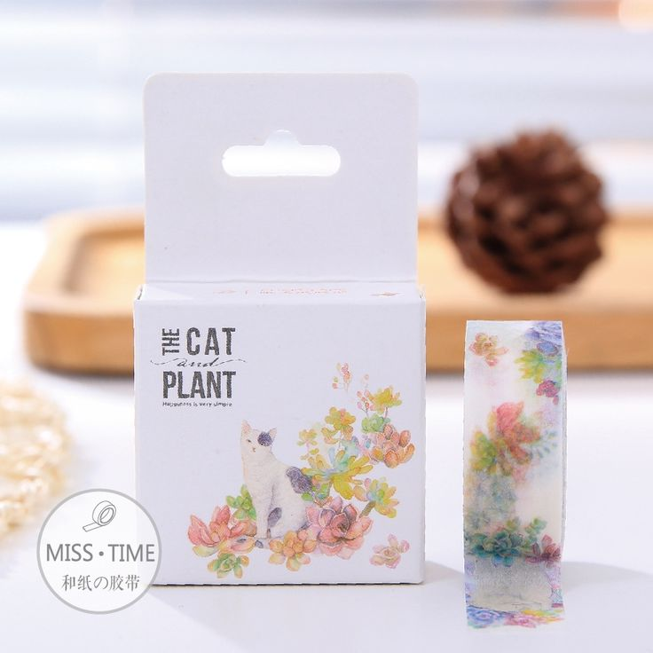 0.99$  Buy here - New  DIY Japanese paper Masking Washi tapes  Beautiful cat and floral Decoration Adhesive Tapes  scrapbooking stickers   #bestbuy
