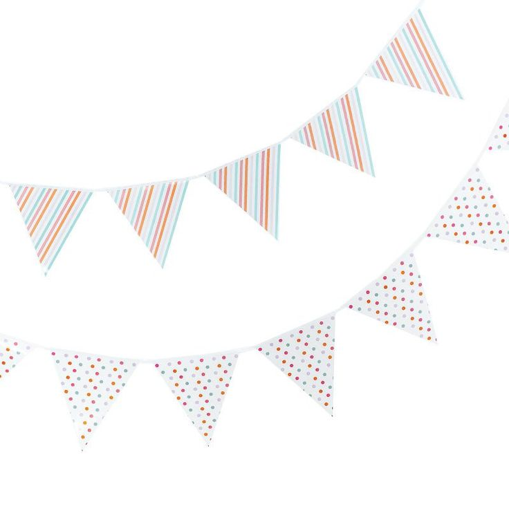 Pastel Sorbet Bunting – Lucky Lulu Party Shop