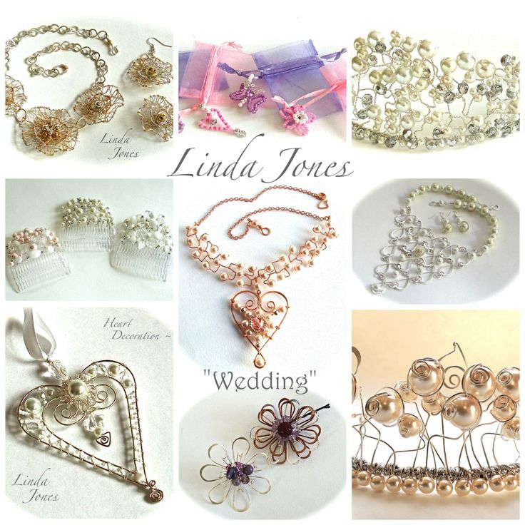 Bespoke wedding commissions and workshops - contact: linda.jones@wirejewellery.co.uk for details