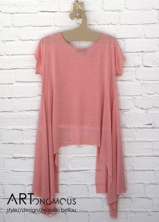 Asymmetrical blush tunic